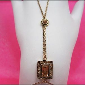 Antiqued Gold/Golden Topaz Harness Bracelet,NWT